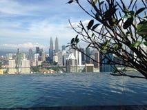 Infinity swimming pool Kuala Lumpur Stock Image