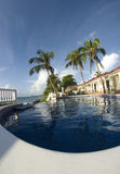 Infinity swimming pool nicaragua Royalty Free Stock Photos