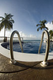 Infinity swimming pool nicaragua Royalty Free Stock Photography
