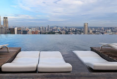 Infinity swimming pool in Singapore Stock Photos