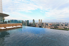 Infinity swimming pool in Singapore Stock Images