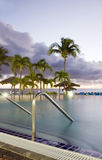 Infinity swimming pool St. Maarten St. Martin Royalty Free Stock Photo