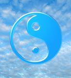 Infinity symbol. Infinity. Symbol on blue sky. Decoration for CD of a disk and album Stock Photography