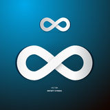 Infinity Symbol on Blue Background Royalty Free Stock Photo