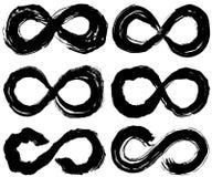 Infinity symbol. brush stroke illustrations. Royalty Free Stock Photo