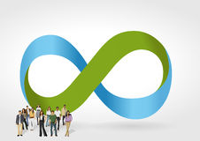 Infinity symbol with business people Royalty Free Stock Photos