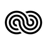Infinity symbol icon. Representing the concept of infinite, limitless and endless things. Simple tripple line vector Stock Photos