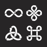 Infinity symbol icons. Vector Illustration. Infinity symbol icons Design. Vector Illustration Royalty Free Illustration