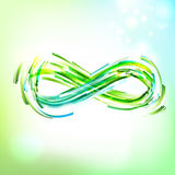 Infinity symbol at light sky Stock Photos