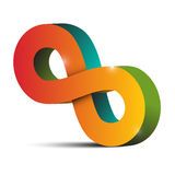 Infinity Symbol. Tilted Endless Colorful Eight Sign Stock Photos