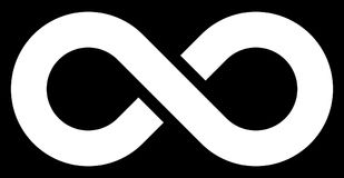 Free Infinity Symbol White - Simple With Discontinuation - Isolated - Stock Images - 122937274