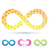 Infinity Symbols Honeycomb Royalty Free Stock Images