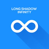Infinity symbols with long shadow Stock Image