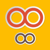 Infinity Symbols on Yellow Background Royalty Free Stock Image