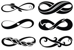 Infinity.Tattoo symbols Stock Photo