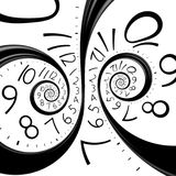 Infinity time spiral clock Royalty Free Stock Image
