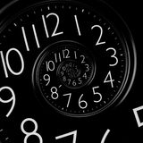 Infinity time spiral clock Stock Images