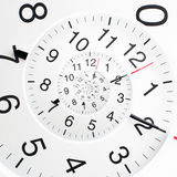Infinity time spiral. Concept of infinity time spiral. Twisted clock face Stock Image
