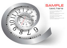 Infinity time. Vector illustration. Infinity time Silver clock. Vector illustration Stock Photo