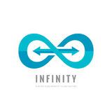 Infinity - vector logo template concept illustration. Abstract shape with arrows creative sign. Design element.  Royalty Free Stock Photos