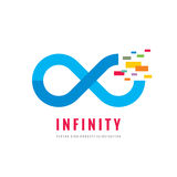 Infinity - vector logo template concept illustration. Abstract shape creative sign. Design element Royalty Free Stock Images