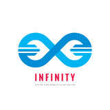 Infinity - vector logo template concept illustration. Abstract shape creative sign. Design element.  royalty free illustration