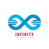 Infinity - vector logo template concept illustration. Abstract shape creative sign. Design element.  Stock Photos