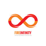 Infinity - vector logo template concept illustration in flat style. Abstract fire flame shape creative sign. Design element.  Royalty Free Stock Photos