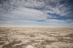 Infinity View of the Black Rock Desert Playa Stock Photo