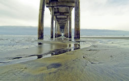 Infinity view of Scripps pier from ground level Royalty Free Stock Photos