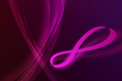 Infinity on violet Royalty Free Stock Images
