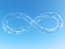 Infinity Water. Water in 3D infinity symbol shape Stock Image