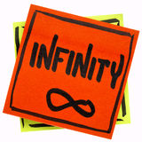 Infinity word and symbol Royalty Free Stock Photo