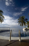 Infinty pool caribbean sea Royalty Free Stock Images