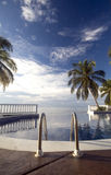 Infinty Pool Caribbean Sea Stock Images
