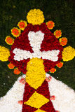 Infiorata baroque feast images made of flower petals, Noto, Sicily Royalty Free Stock Image