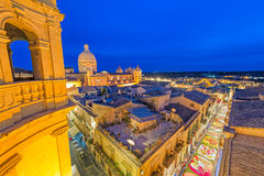 Infiorata flower festival in Noto. Top view of Nicolaci street in Noto during the annual flower festival, the Infiorata, which takes place every May since the Royalty Free Stock Photos
