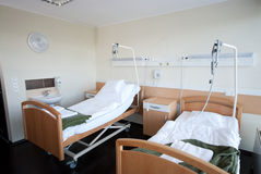 Infirmary I. 2-bed ward in a modern clinic Stock Image
