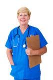 Infirmière aînée Photo stock