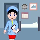 Infirmière au travail Photo stock