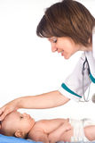 Infirmière avec la chéri images stock