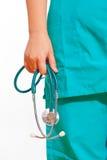 Infirmière avec un stéthoscope photos libres de droits