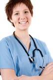 Infirmière bleue photos stock