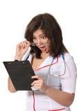 Infirmière choquée avec un fichier photographie stock libre de droits