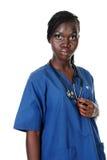 Infirmière d'Afro-américain photographie stock