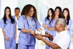Infirmière dans l'hôpital photo stock