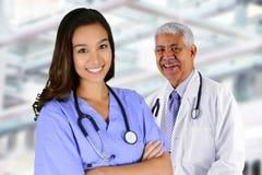 Infirmière dans l'hôpital image stock