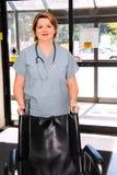 Infirmière dans un hôpital images stock