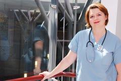 Infirmière dans un hôpital photographie stock