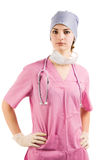 Infirmière de beauté dans l'uniforme photo stock